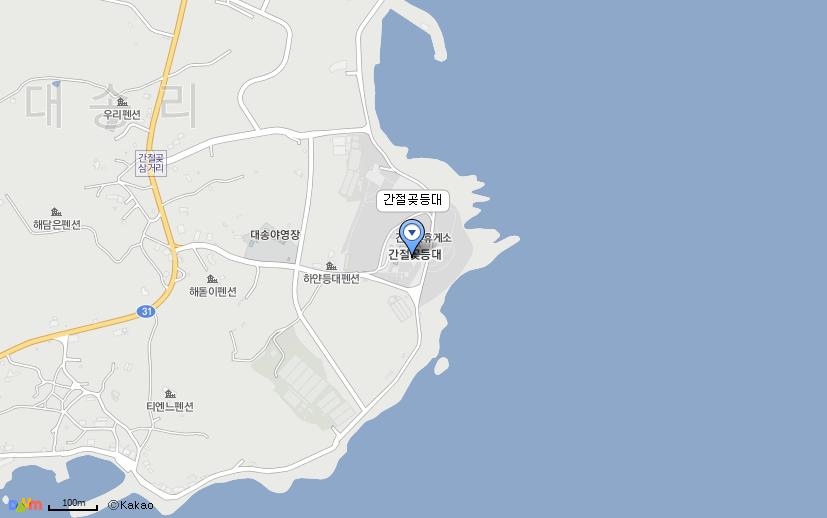 간절곶등대 지도